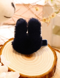 Lovely Navy Rabbit Shape Decorated Hairpin