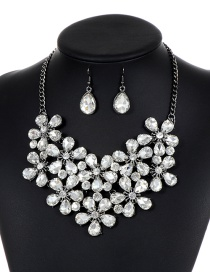 Fashion Silver Color Flower Shape Decorated Jewelry Sets