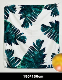 Fashion Green Leaf Pattern Decorated Background Cloth(no Led )