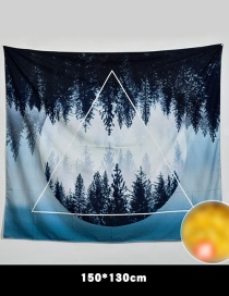 Fashion Black+blue Forest Pattern Decorated Background Cloth(no Led )