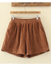 Fashion Khika Pure Color Decorated Shorts