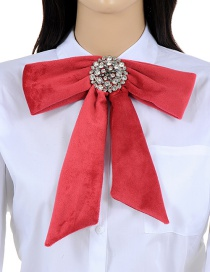 Elegant Claret-red Bowknot Shape Decorated Necklace