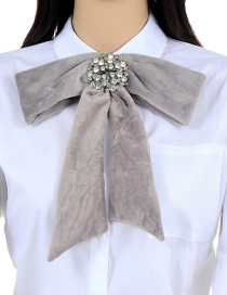 Elegant Gray Bowknot Shape Decorated Necklace