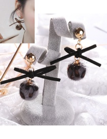 Lovely Black Bowknot Decorated Earrings
