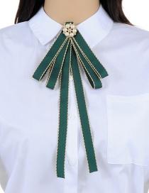 Elegant Green Flower Shape Decorated Brooch