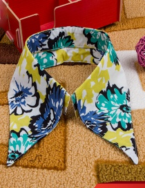 Fashion Multi-color Flower Pattern Decorated Fake Collar
