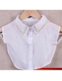 Fashion White Pure Color Decorated Fake Collar