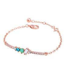 Fashion Pink Color Matching Decorated Bracelet