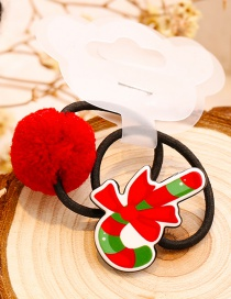 Lovely Red Crutch Shape Decorated Christmas Hair Band (1pair)