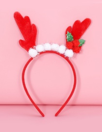 Lovely Red+white Fuzzy Ball Decorated Chrismas Hair Clip