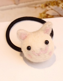 Lovely Beige Pig Shape Decorated Hair Band