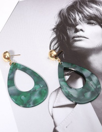 Fashion Green Water Drop Shape Decorated Earrings