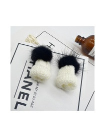 Fashion Black Hat Shape Decorated Simple Earrings