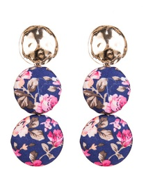 Exaggerated Purple Flower Pattern Decorated Earrings