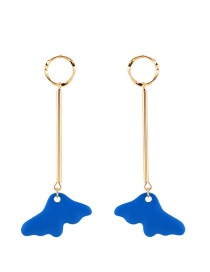 Fashion Blue Clouds Shape Pendant Decorated Earrings