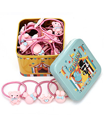 Lovely Yellow+light Blue Elephant Pattern Decorated Baby Hair Band(40pcs+box)