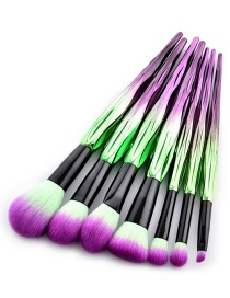 Fashion Purple Color-matching Decorated Brushes(7pcs)