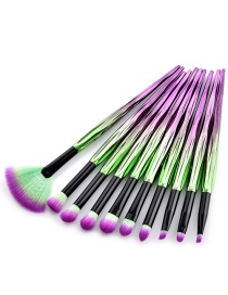 Fashion Purple Color-matching Decorated Brushes(10pcs)