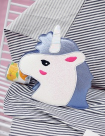 Fashion Blue Unicorn Shape Decorated Bag