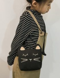 Lovely Black Cat Shape Decorated Baby Bag
