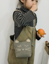 Lovely Gray Cat Shape Decorated Baby Bag