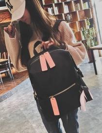Fashion Black Bowknot Shape Decorated Backpack