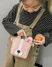 Lovely Pink Dog Shape Decorated Baby Bag