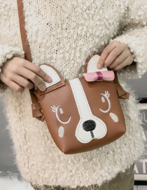 Lovely Khaki Dog Shape Decorated Baby Bag