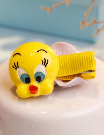 Fashion Yellow Duck Shape Decorated Hair Clip