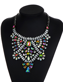 Luxury Multi-color Hollow Out Decorated Necklace