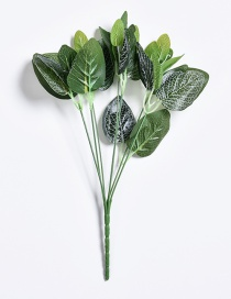 Lovely Green Leaf Shape Decorated Ornament