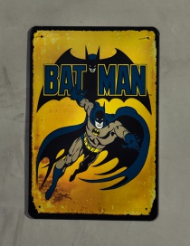 Fashion Yellow Batman Pattern Decorated Ornament