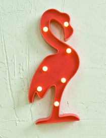 Lovely Red Flamingo Shape Decorated Lighting