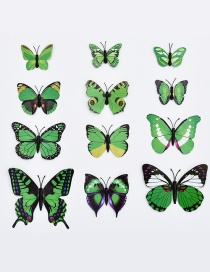 Lovely Green Butterfly Shape Decorated Ornament (12pcs)