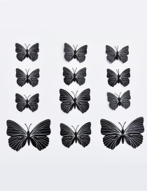Lovely Black Butterfly Shape Decorated Ornament (12pcs)