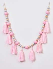 Lovely Pink+light Blue Tassle Decorated Ornament