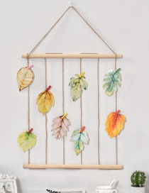 Lovely Yellow+green Leaf Shape Decorated Ornament