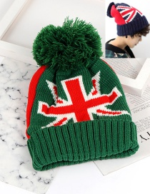 Fashion Green Flag Pattern Decorated Hat