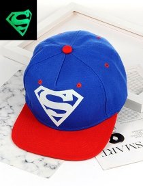 Fashion Blue Color Matching Decorated Cap