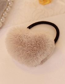Fashion Coffee Heart Shape Decorated Hair Band