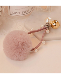 Fashion Pink Ball Shape Decorated Pom Hair Band