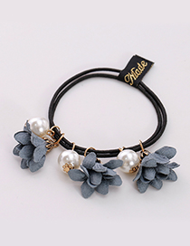 Fashion Gray Three Flowers Shape Decorated Hair Band