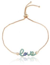 Fashion Blue Letter Shape Decorated Bracelet