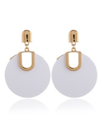 Personlity White Round Shape Decorated Earrings