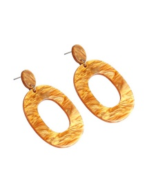 Trendy Brown Hollow Out Design Simple Earrings