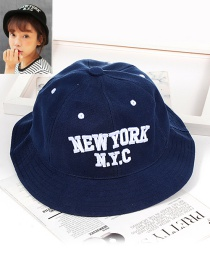 Fashion Blue Letter Shape Decorated Hat