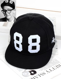 Fashion Black Number Shape Decorated Hat