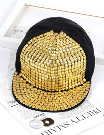 Fashion Gold Color Square Shape Decorated Hat