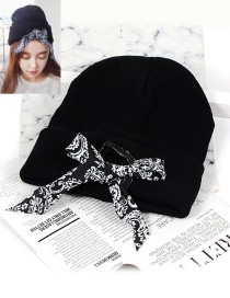 Fashion Black Bowknot Shape Decorated Hat