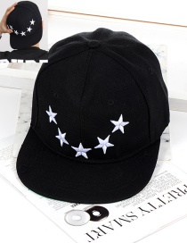 Fashion Black Star Shape Decorated Hat